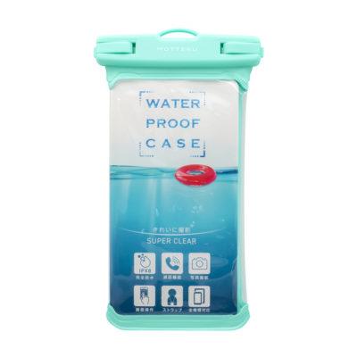 ケースにいれたまま写真撮影や通話ができる 防水ケース(MOT-WPC002)