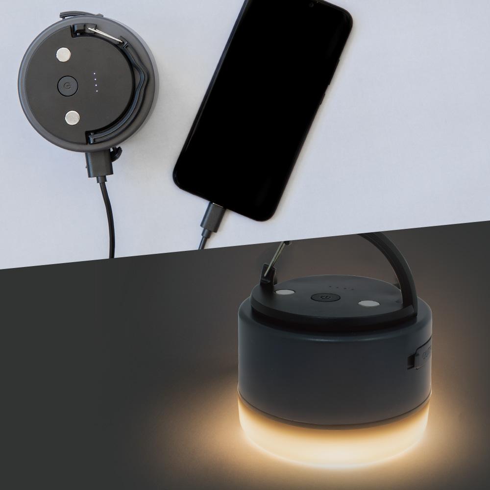 最大点灯30時間のLEDランタン+モバイルバッテリー6,700mAh