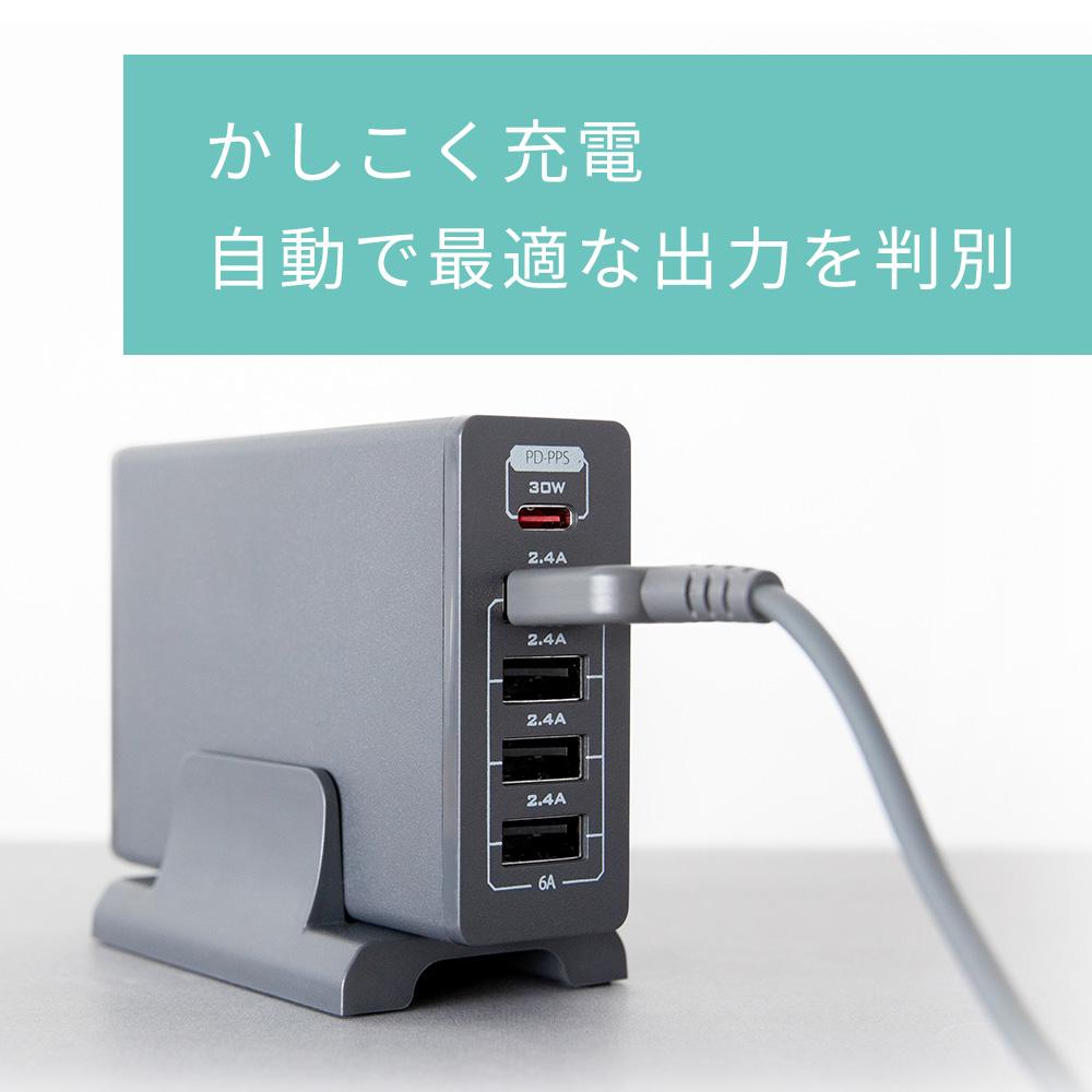 かしこく充電対応で最適な電流で充電ができる