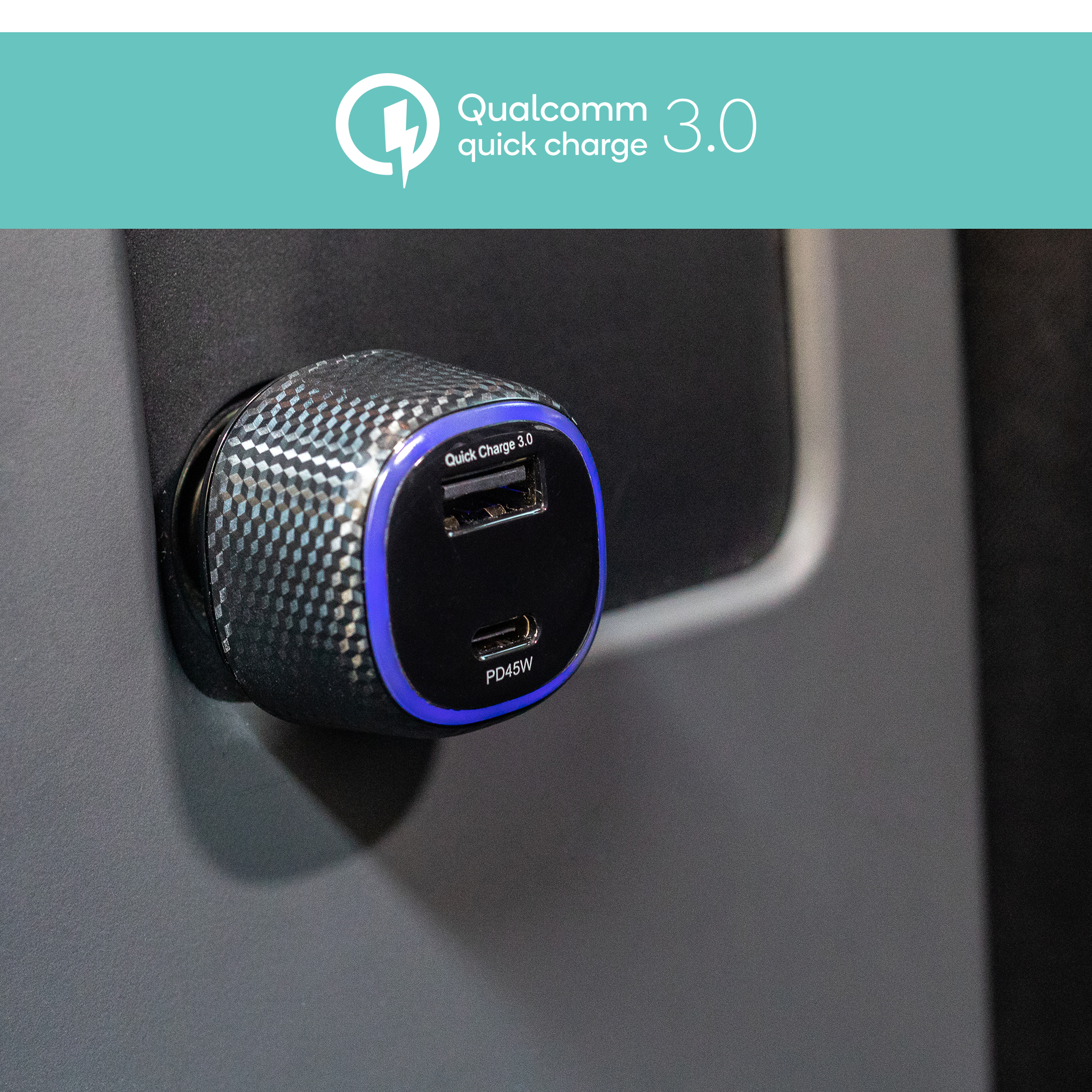 Quick Charge 3.0対応で超速充電